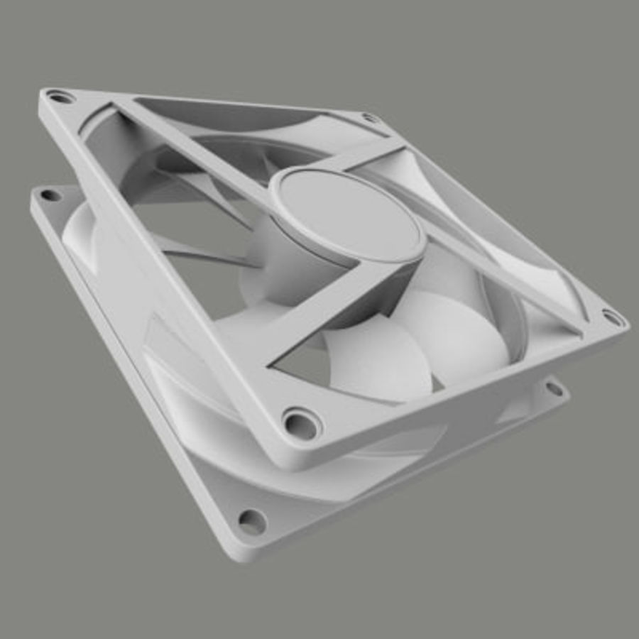 Computer Case Fan royalty-free 3d model - Preview no. 1