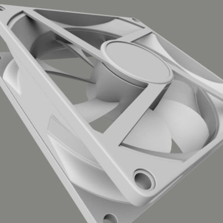 Computer Case Fan royalty-free 3d model - Preview no. 2