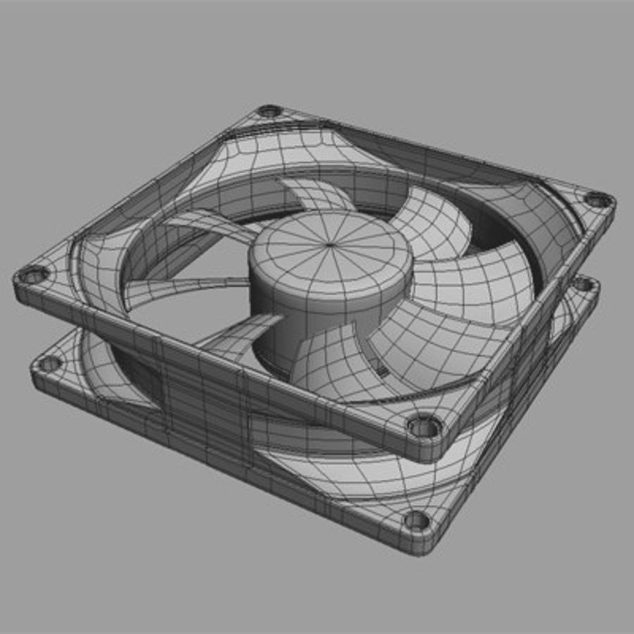 Computer Case Fan royalty-free 3d model - Preview no. 9