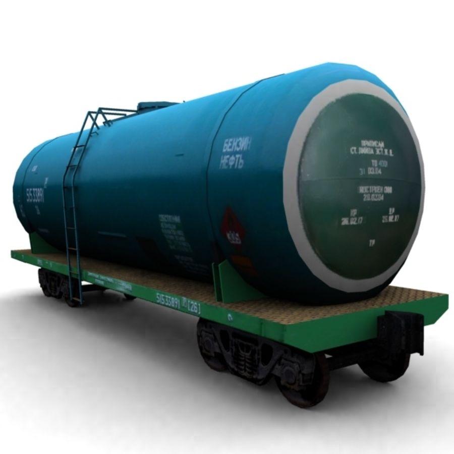 cistern_vagon royalty-free 3d model - Preview no. 2