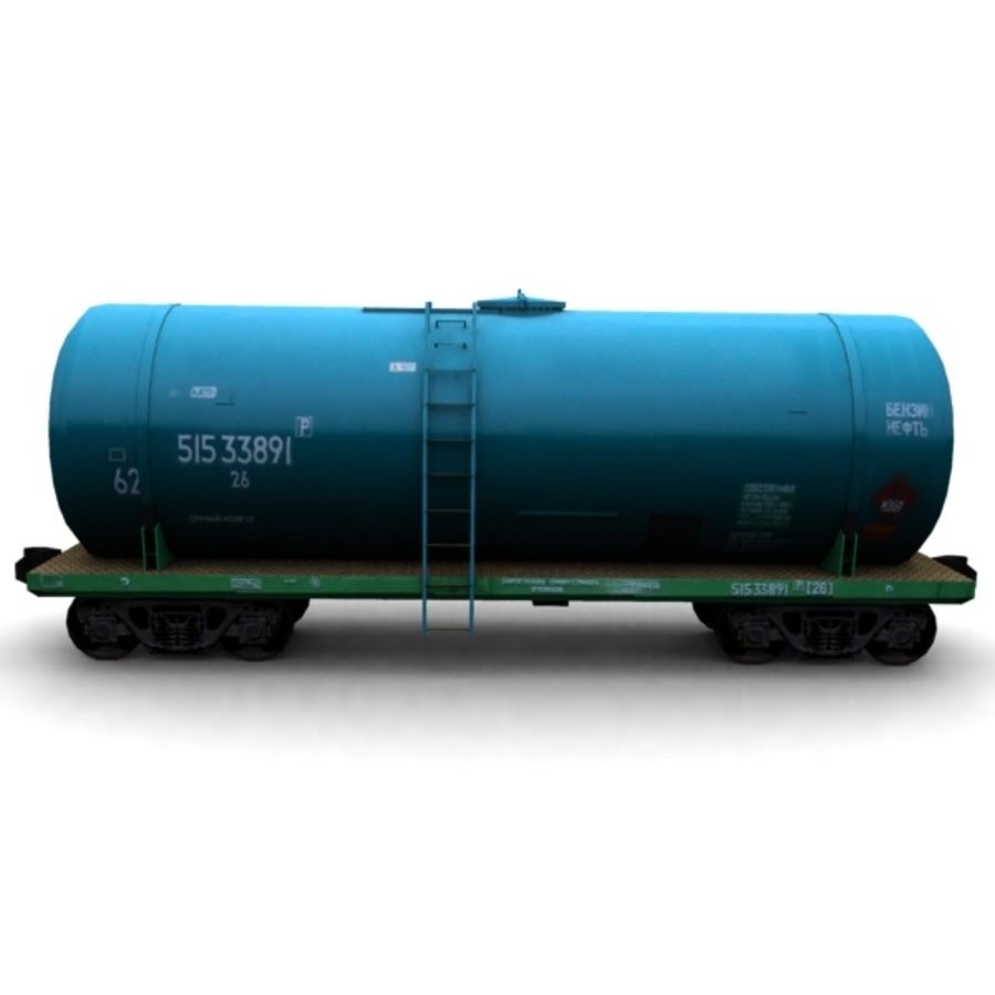 cistern_vagon royalty-free 3d model - Preview no. 4