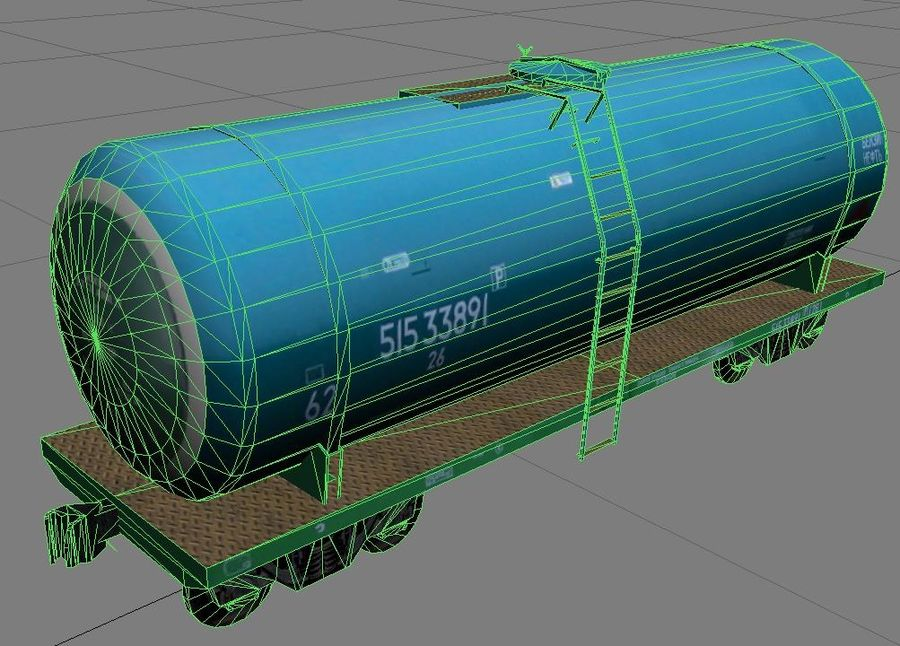 cistern_vagon royalty-free 3d model - Preview no. 5