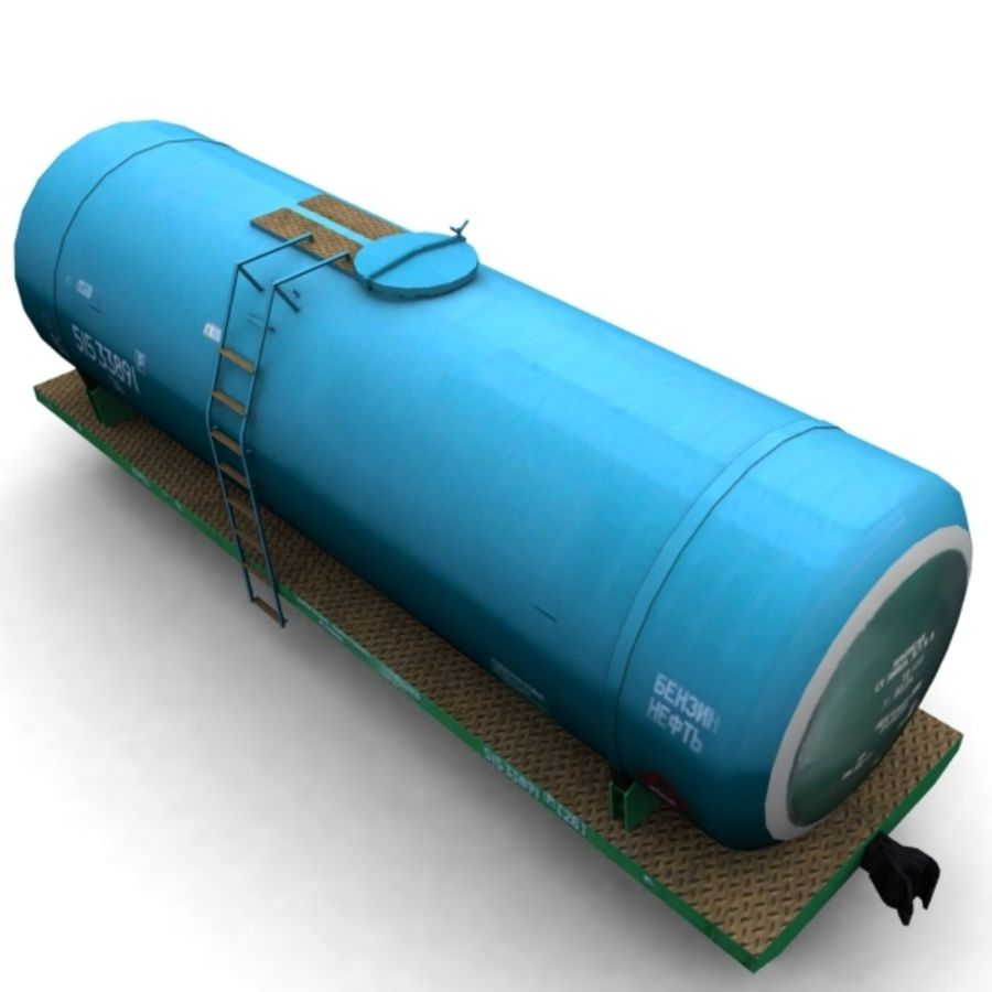 cistern_vagon royalty-free 3d model - Preview no. 3