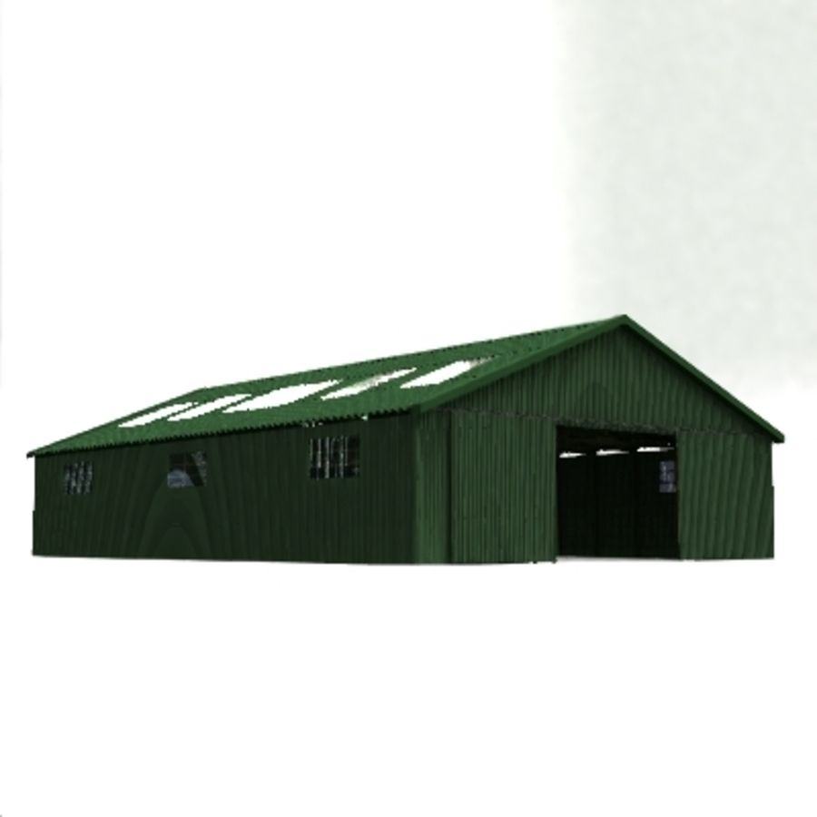 aircraft hanger royalty-free 3d model - Preview no. 1
