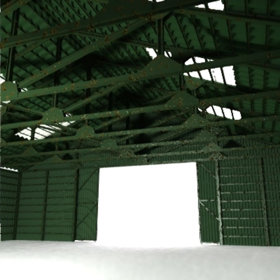 aircraft hanger royalty-free 3d model - Preview no. 2
