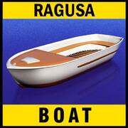 Barca sportiva media 3d model