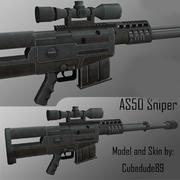 as50 Sniper Rifle 3d model