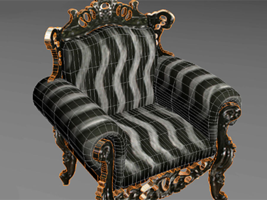 fotel z sofą royalty-free 3d model - Preview no. 5