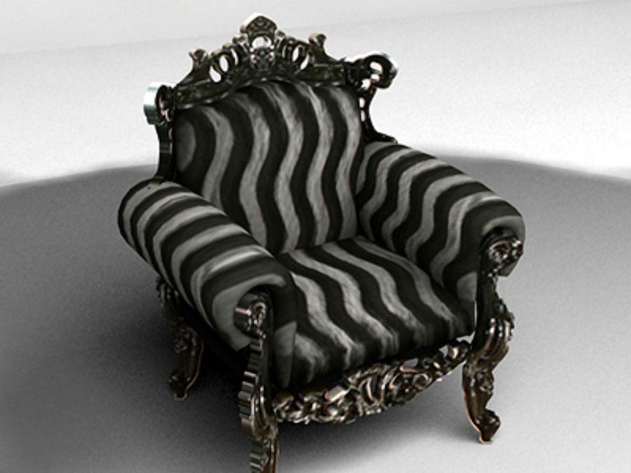 fotel z sofą royalty-free 3d model - Preview no. 2
