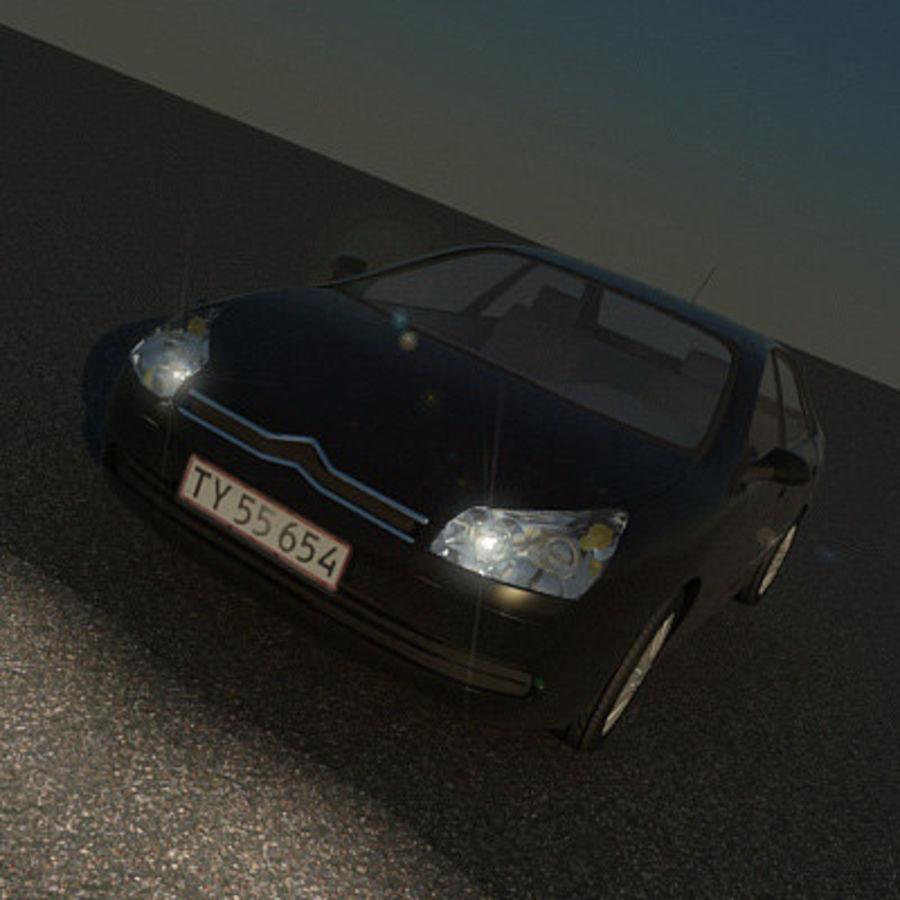 Citroen C5 royalty-free 3d model - Preview no. 4