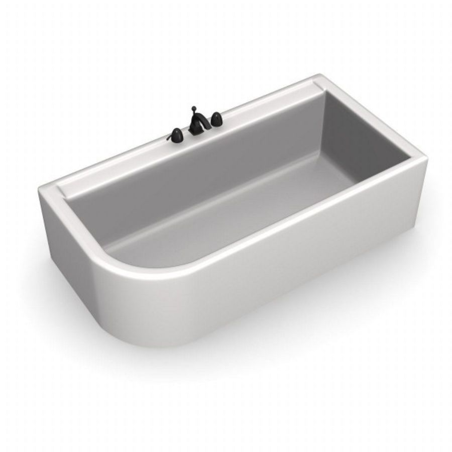 bathtub8.3ds royalty-free 3d model - Preview no. 2
