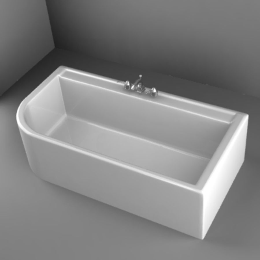 bathtub8.3ds royalty-free 3d model - Preview no. 1