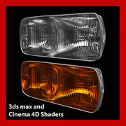 Car Light (3ds max and Cinema 4D) 3d model