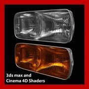 Car Light (3ds max and Cinema 4D) 3d model