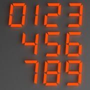 números digitais 3d model