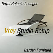 Garden Lounger Vray Studio Setup 3d model