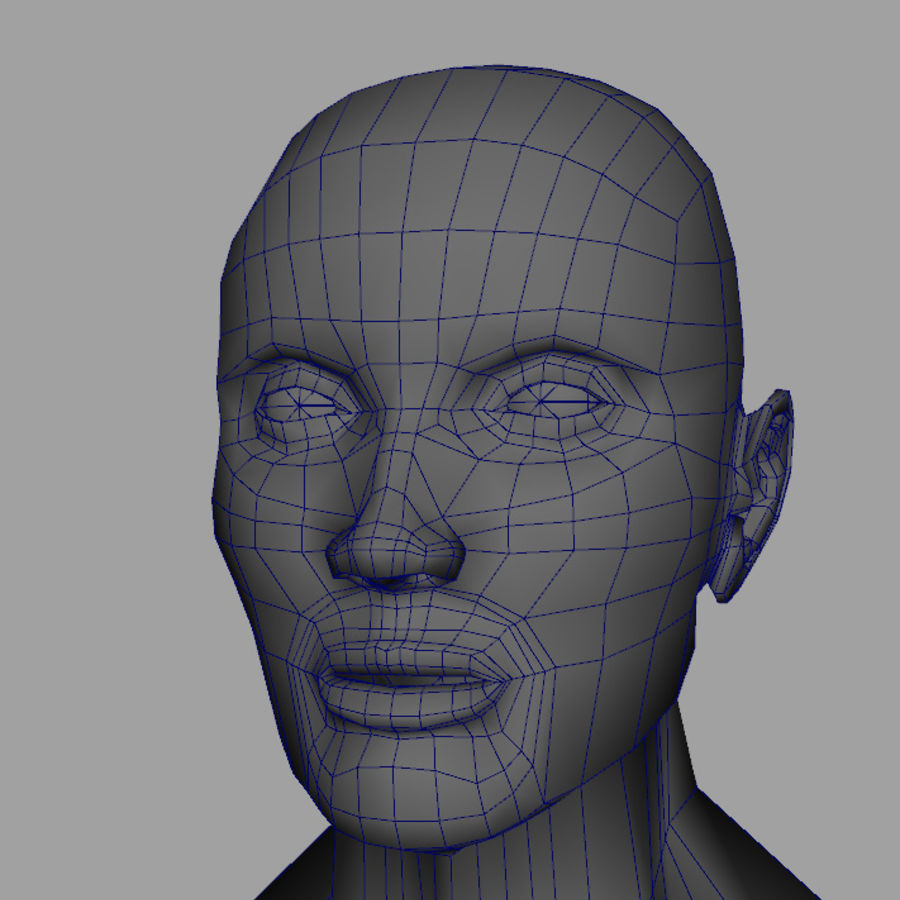 Busto royalty-free modelo 3d - Preview no. 3