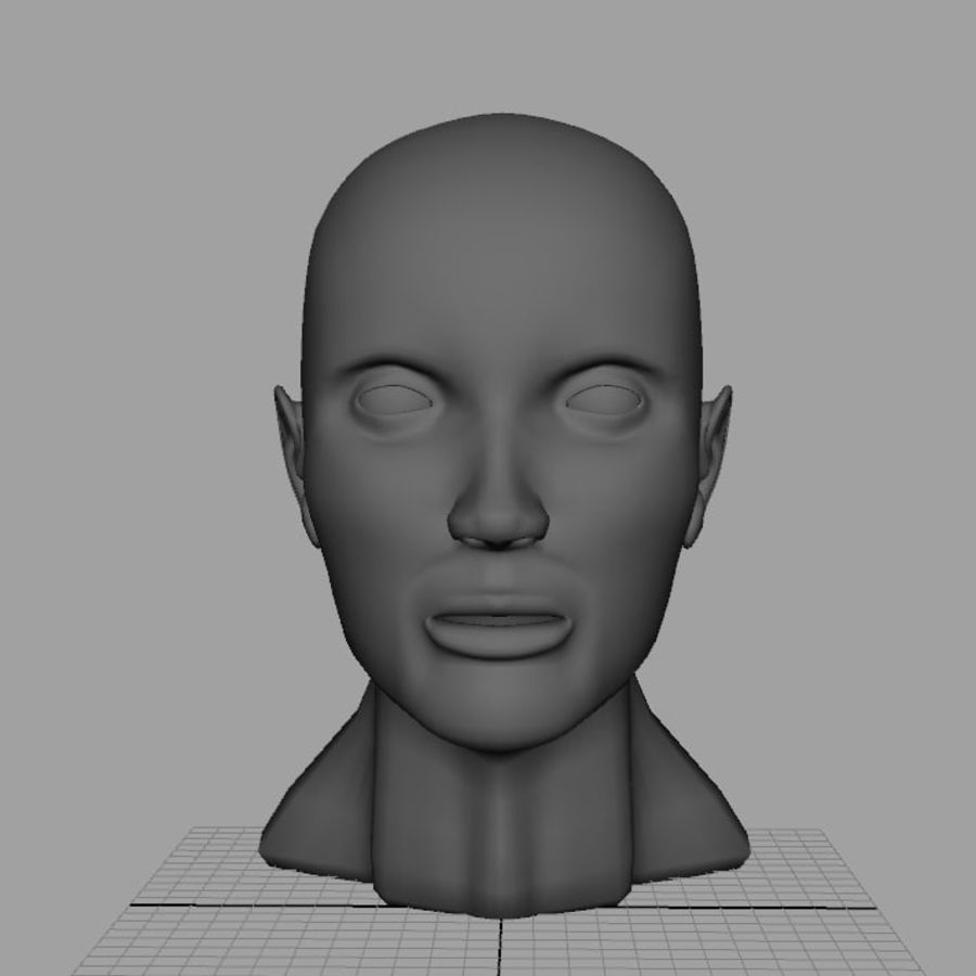Busto royalty-free modelo 3d - Preview no. 1