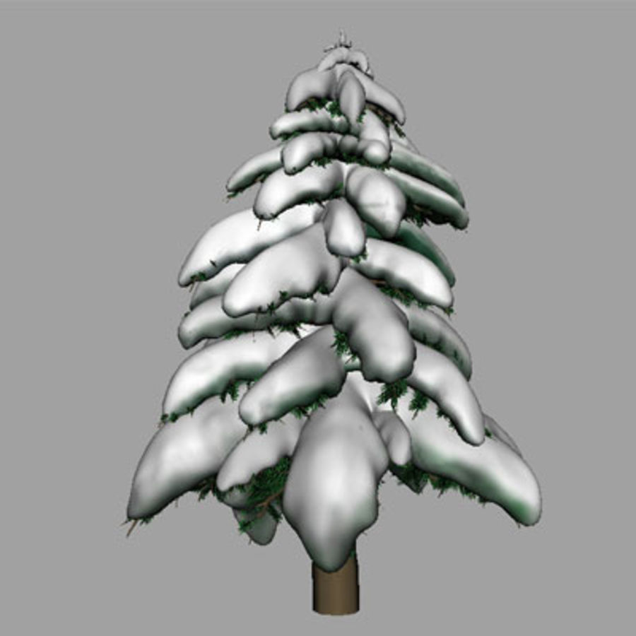 SnowTree royalty-free 3d model - Preview no. 3