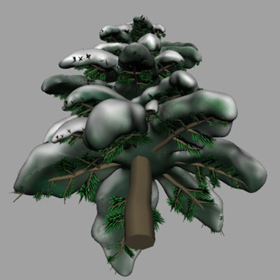 SnowTree royalty-free 3d model - Preview no. 2