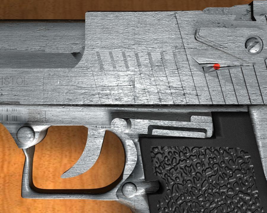 desert eagle royalty-free 3d model - Preview no. 4