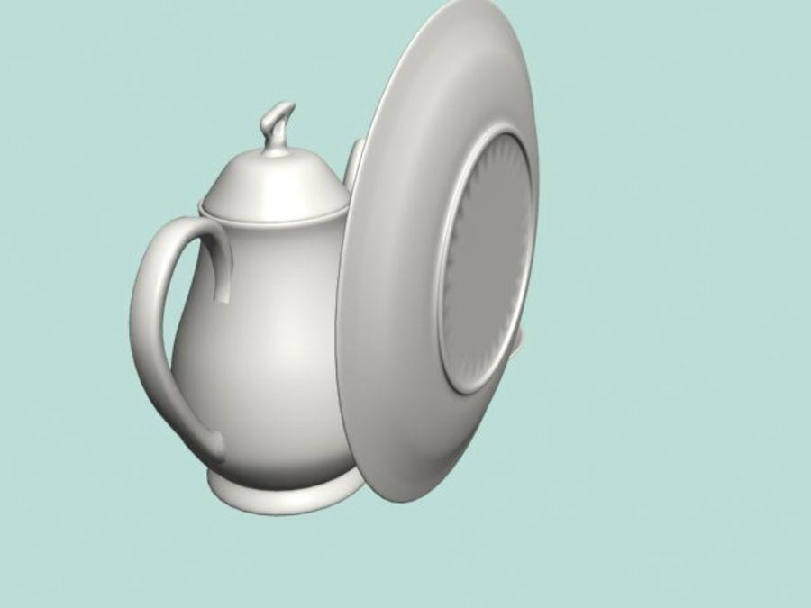 Ceramic Dinner Set royalty-free 3d model - Preview no. 2
