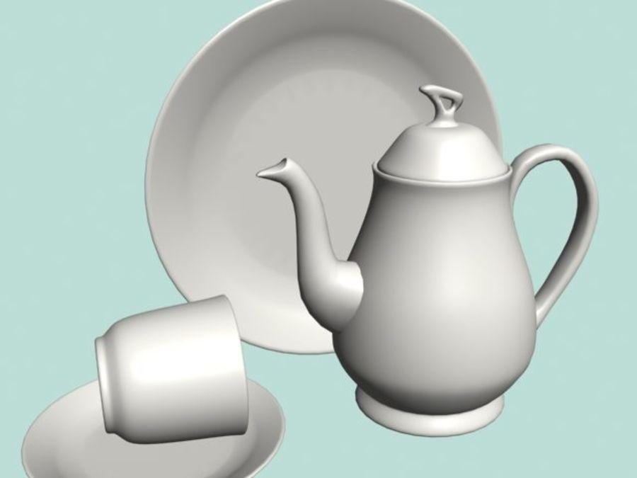Ceramic Dinner Set royalty-free 3d model - Preview no. 1
