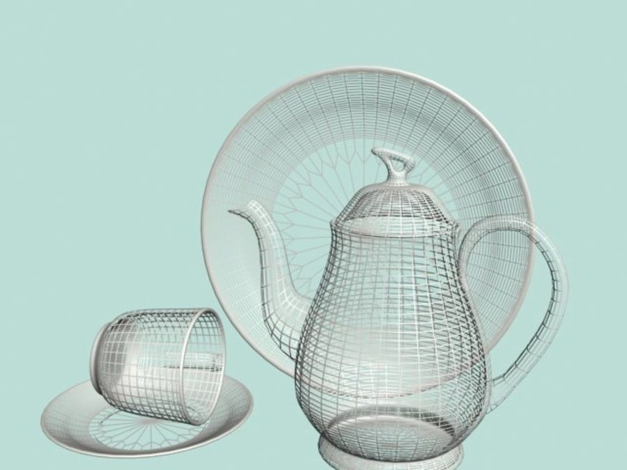 Ceramic Dinner Set royalty-free 3d model - Preview no. 3