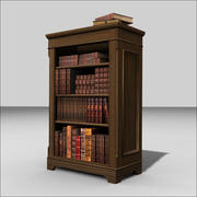 Traditional Bookcase 3d model 3d model