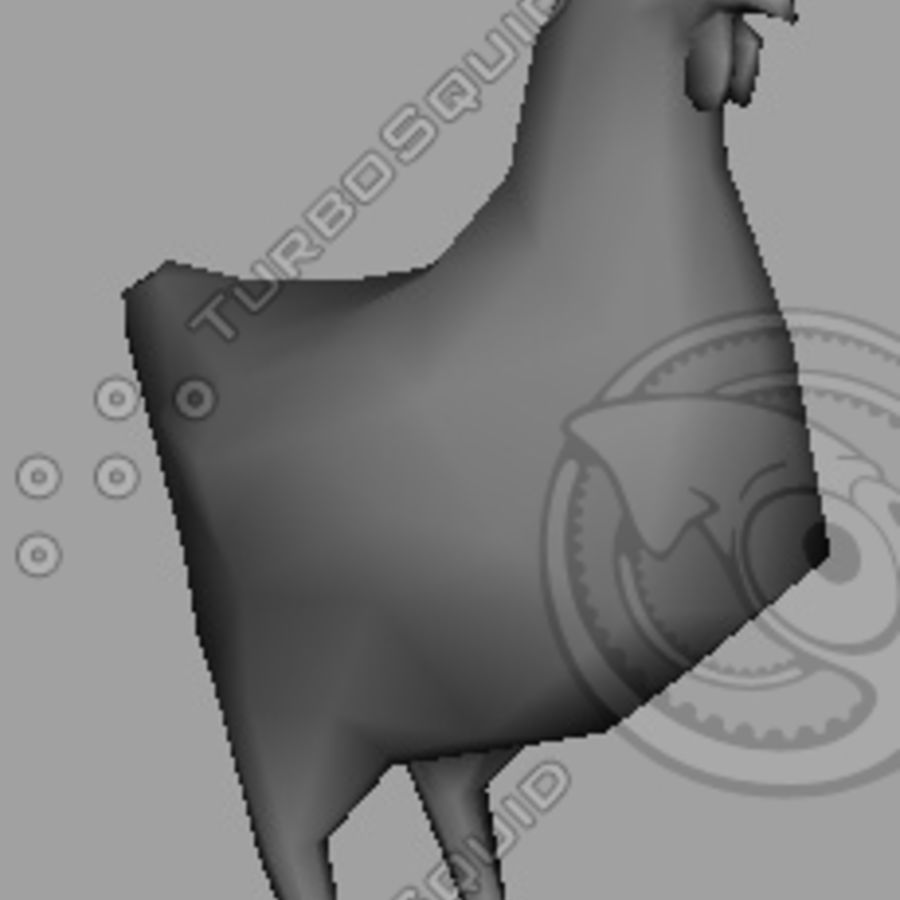 Low poly chicken royalty-free 3d model - Preview no. 2