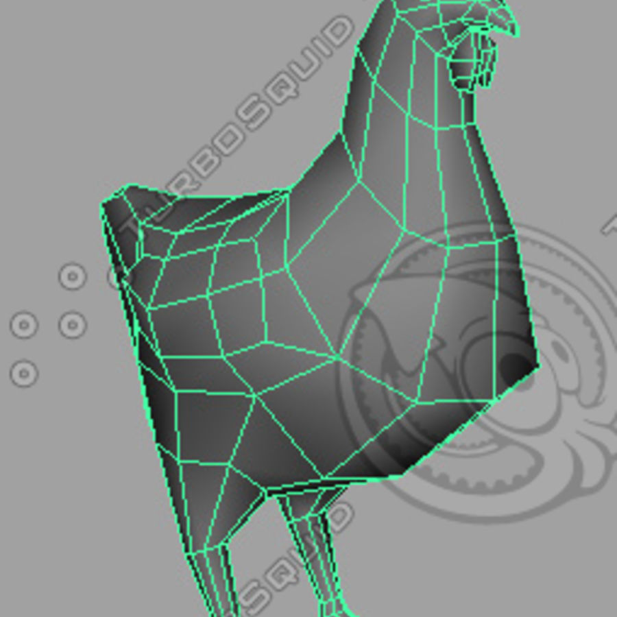 Low poly chicken royalty-free 3d model - Preview no. 3