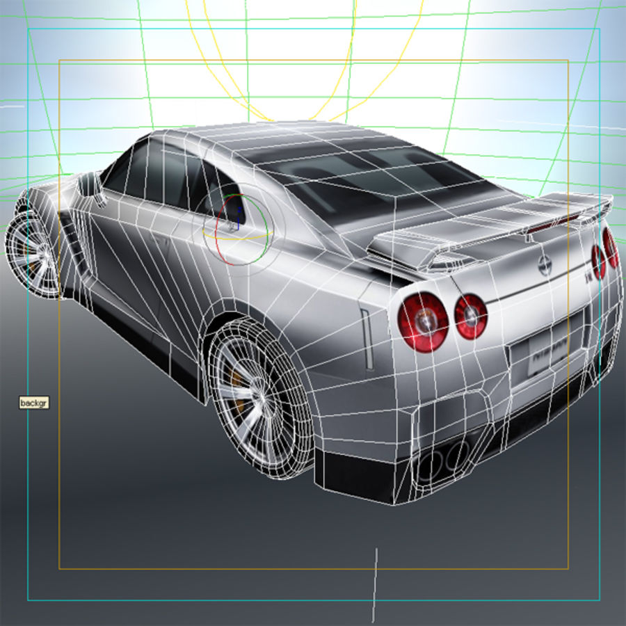 Nissan GT-R 2009 royalty-free 3d model - Preview no. 7