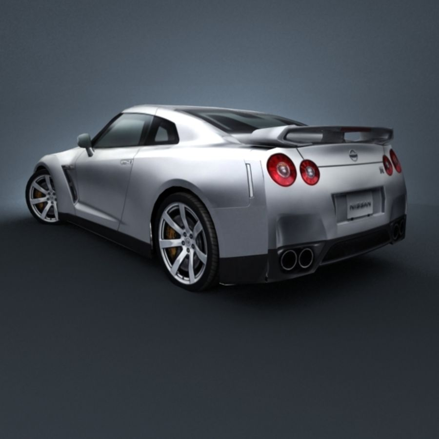 Nissan GT-R 2009 royalty-free 3d model - Preview no. 2