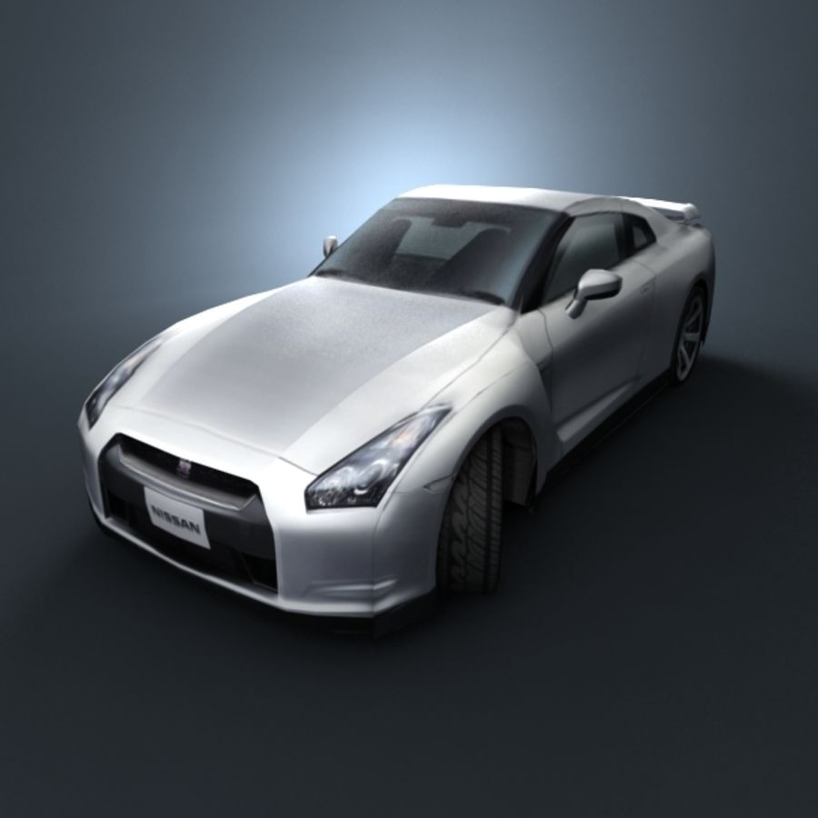 Nissan GT-R 2009 royalty-free 3d model - Preview no. 4