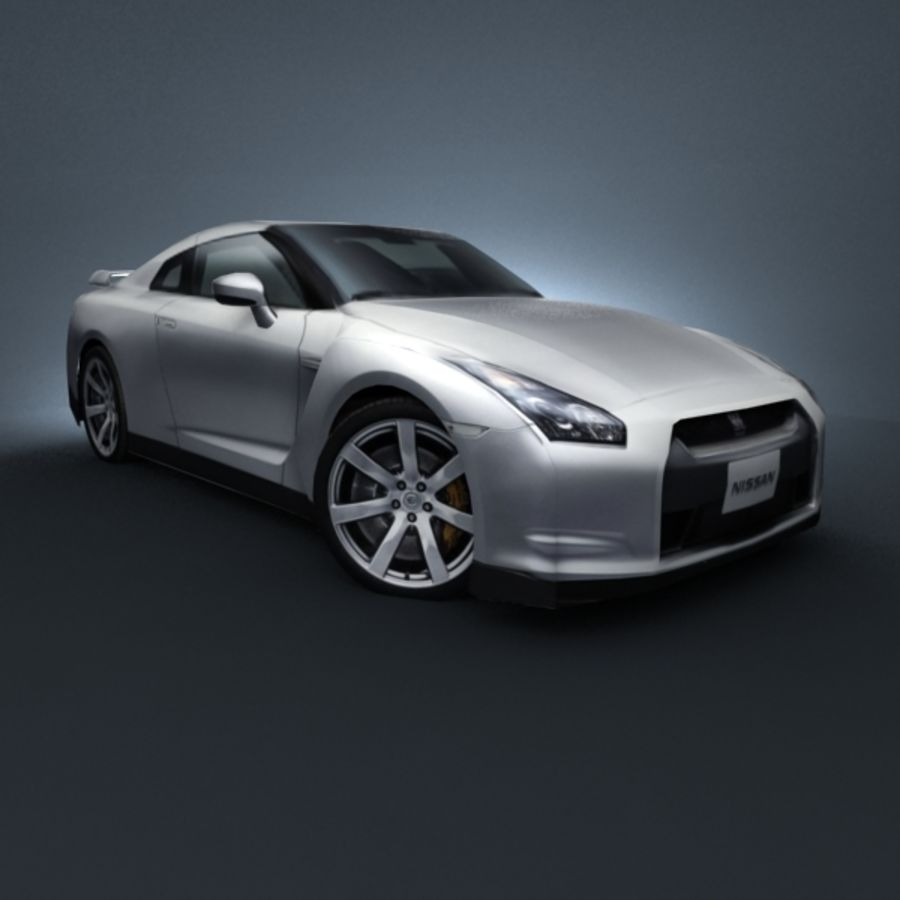 Nissan GT-R 2009 royalty-free 3d model - Preview no. 1