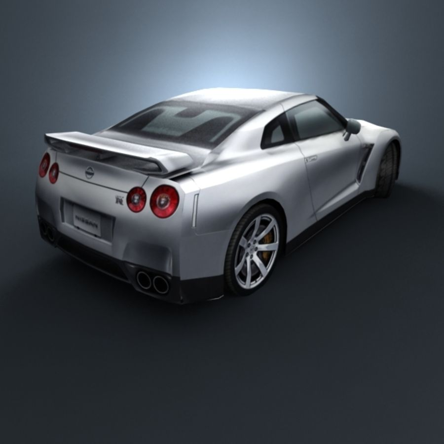 Nissan GT-R 2009 royalty-free 3d model - Preview no. 5