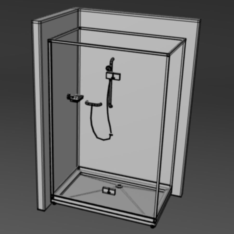 shower8.obj royalty-free 3d model - Preview no. 2