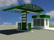 Gas station V4 3d model