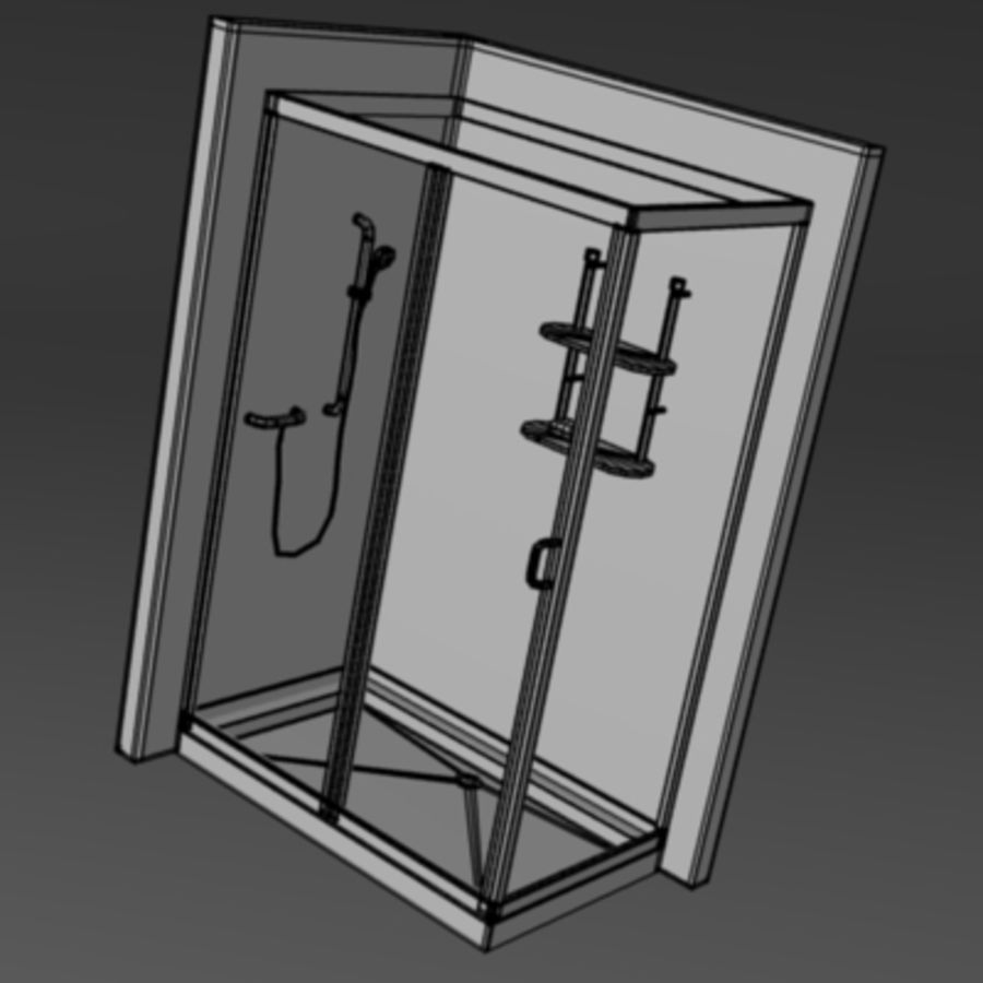 shower4 royalty-free 3d model - Preview no. 2