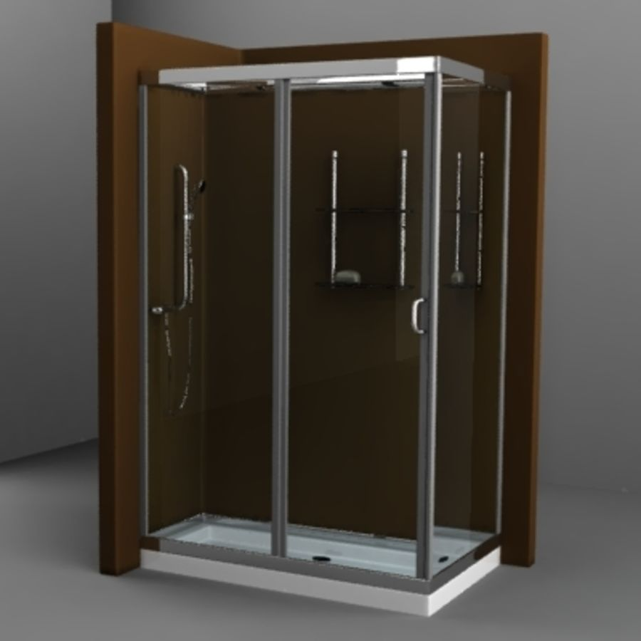 shower4 royalty-free 3d model - Preview no. 1