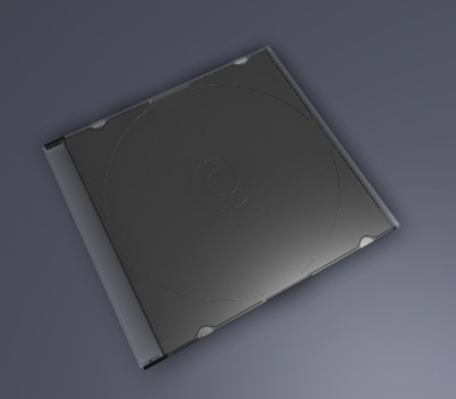 CD/DVD Case royalty-free 3d model - Preview no. 6