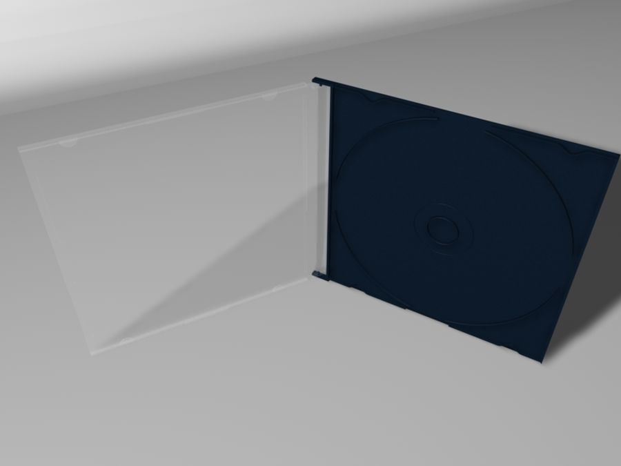 CD/DVD Case royalty-free 3d model - Preview no. 3