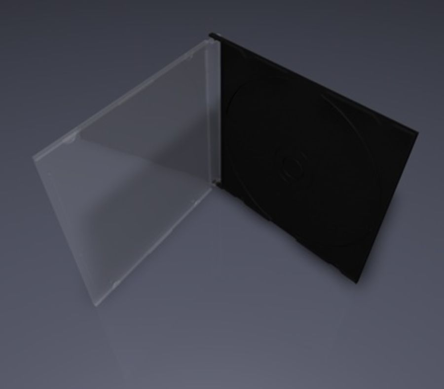 CD/DVD Case royalty-free 3d model - Preview no. 2