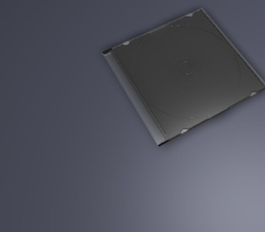 CD/DVD Case royalty-free 3d model - Preview no. 5