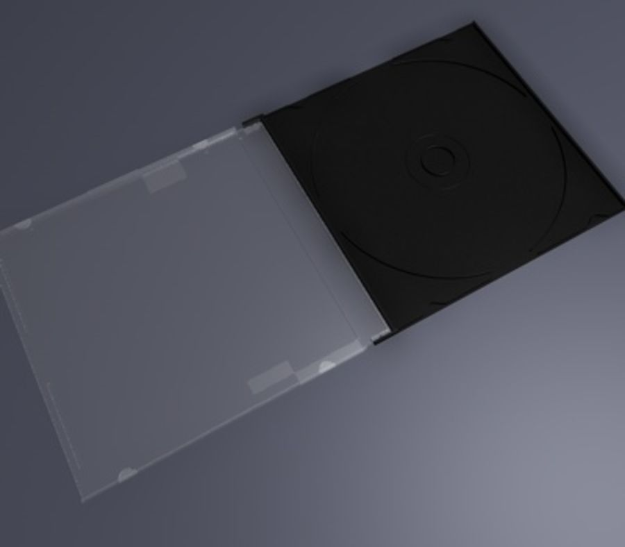 CD/DVD Case royalty-free 3d model - Preview no. 4