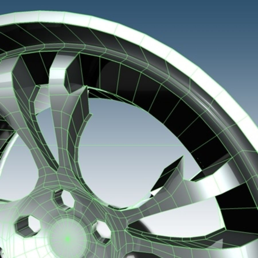 Krazy Car Rim royalty-free 3d model - Preview no. 4
