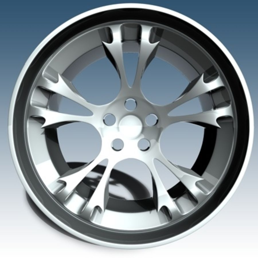 Krazy Car Rim royalty-free 3d model - Preview no. 2