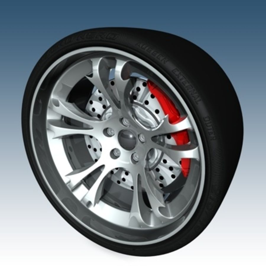 Krazy Car Rim royalty-free 3d model - Preview no. 3