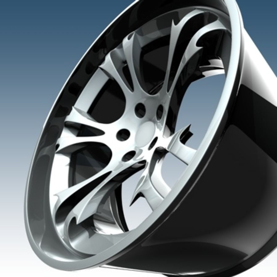 Krazy Car Rim royalty-free 3d model - Preview no. 1