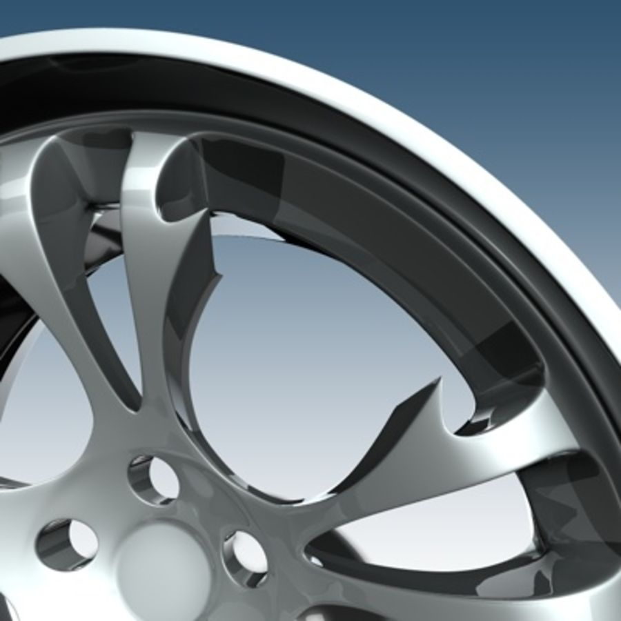 Krazy Car Rim royalty-free 3d model - Preview no. 5